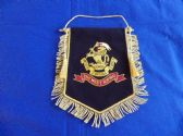 DUKE OF WELLINGTON'S REGIMENT ( WEST RIDING ) BULLION WIRE EMROIDERED PENNANT